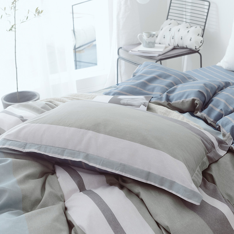 100% coton doux ensembles de literie linge de lit mode Simple Style ensemble de literie hiver pleine taille housse de couette ensemble de draps ensemble chaud - 5