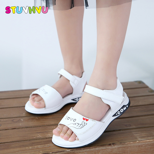 43b64f7d6b8e Kids girls summer sandals soft rubber sandals for children casual shoes  little girl dance shoes school