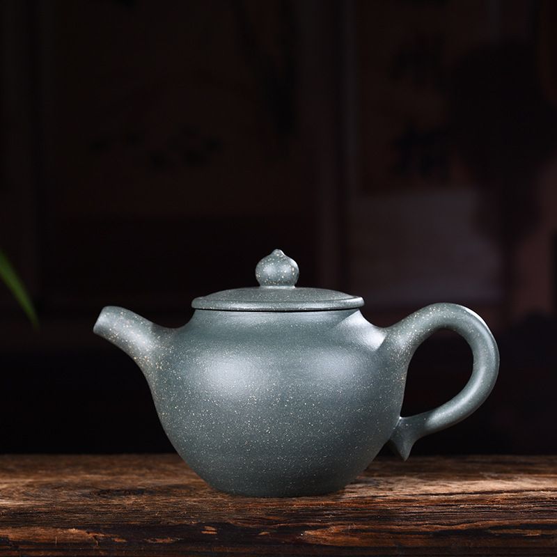 240ml Genuine Yixing Zisha Tea Pot Famous Handmade Raw Ore Green Mud Green Light Teapot Kung Fu Tea Kettle Free Shipping ...