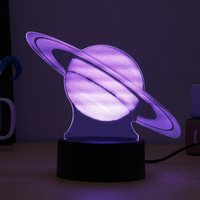 Visual Colorful 3D Planet Jupiter LED Table Lamp Calming Night Light USB Powered Remote Controller Christmas