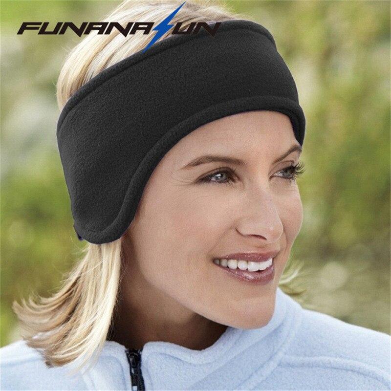 Unisex Women Lady Men Ear Warmer Winter Head Band Polar Fleece Earband Ski Ear Muffs Stretch Spandex Hair Band Accessories