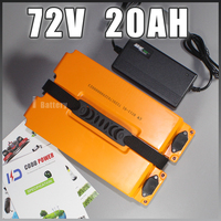 72V 20AH Li iom battery Electric bicycle Battery 72V scooter Battery Pack EU US Free Duty Taxes
