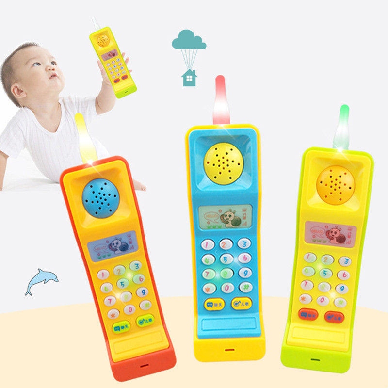 Electronic Baby Toys Phone ABS Children Educational Toy Lights Sounds Flashing Mobile Phone Music Toy For Toddler Infant Gift