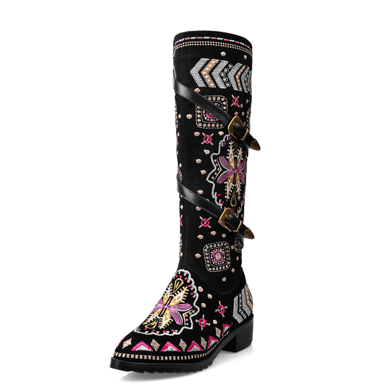indian style winter boots embroidered genuine