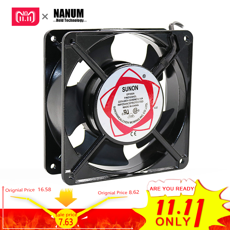 где купить NANUM cooling fan 12038 DP200A 2123 220V 120*120*38 Axial Fans 120 * 120 * 38mm ozonizer accessories Soldering tin exhaust fan дешево