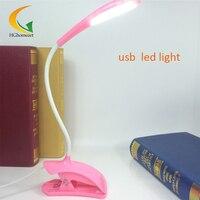 USB Klip Elastyczne LED Światła Do Czytania Clip-on Obok Łóżka Tabeli Tabeli Światła Lampy Biurko Książki ochrona Oczu Laptopa pulpit