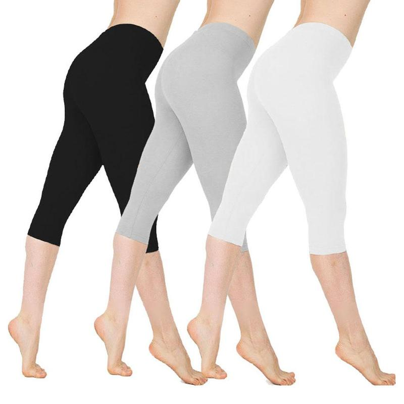 Thin Pants Breathable Leggings Elastic Low-Waist Large-Size Fitness-Feminina 1pc 8-Colors