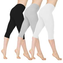 1pc Large Size Elastic 8 Colors Low Waist Cotton Leggings S-xxl Low Waist Thin Pants Breathable Leggings Fitness Feminina