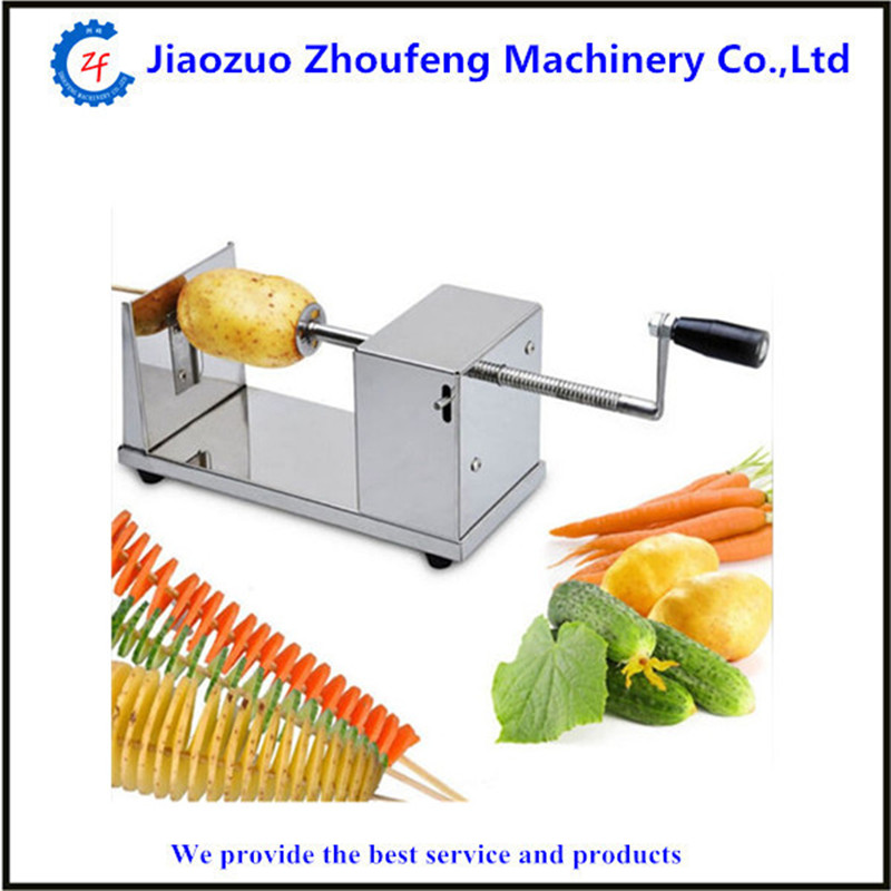 Spiral potato slicer home use manual stainless steel tornado potato cutter potato tower fruit vegetable kitchen tool  ZF gqd kie 001 stainless steel kiwi slicer cutter rind removal tool silver