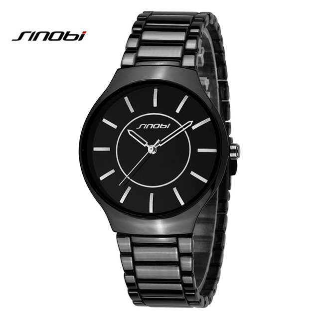SINOBI Lovers Watch Men Women Quartz Wrist Watches Top Brand Luxury Quartz-Watch Relogio Masculino Feminino Montre Femme AB2180