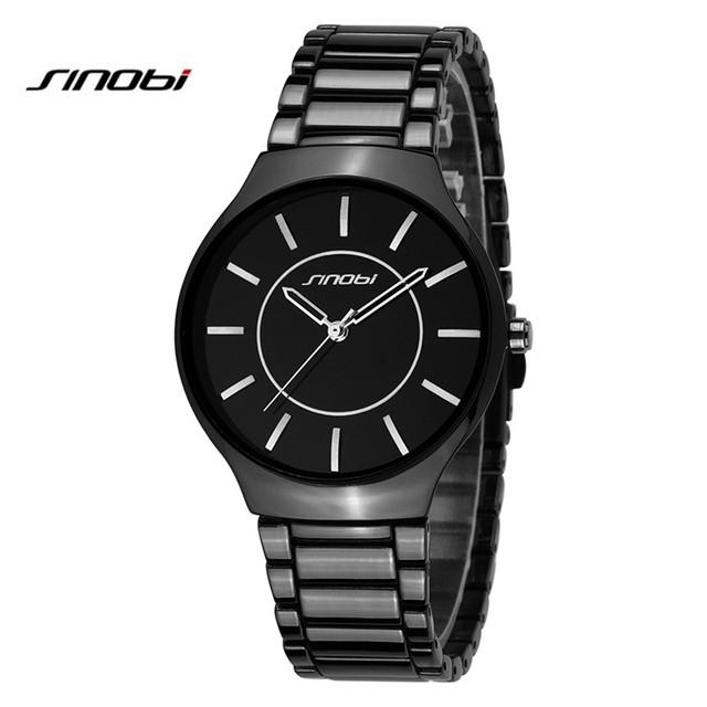 Sinobi amantes de relógios das mulheres dos homens de pulso de quartzo relógios top marca de luxo de quartzo-relógio relogio feminino montre femme ab2180