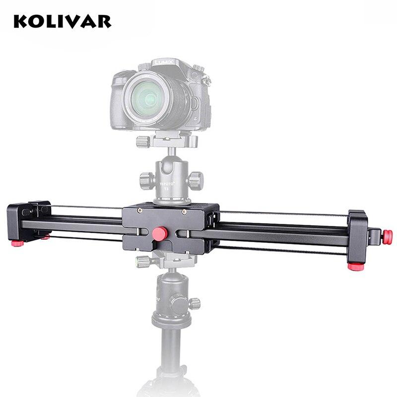 Kolivar Портативный DSLR видео Камера слайдер 500 мм Двойной диапазон путешествия Долли слайдер для SLR Камера видеокамеры фотография видео Плёнки