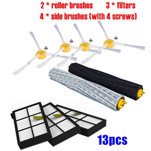 13pcs/set Filters Brushes Sweeper Replacement Accessories For IRobot Roomba 980 990 900 896 886 870 Roll Brushes цена