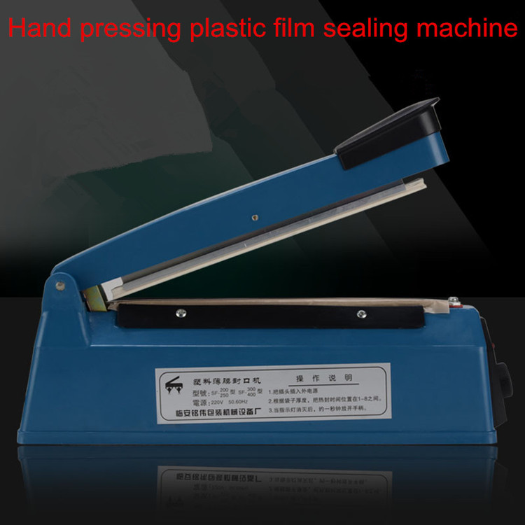 220V vacuum food sealer film bags electric packing machine 20cm plastic sealing machine heat hand impulse sealer pfs 200 impulse quick rapid plastic pvc bag sealing machine sealer for food medical packaging packing manufacturing industry