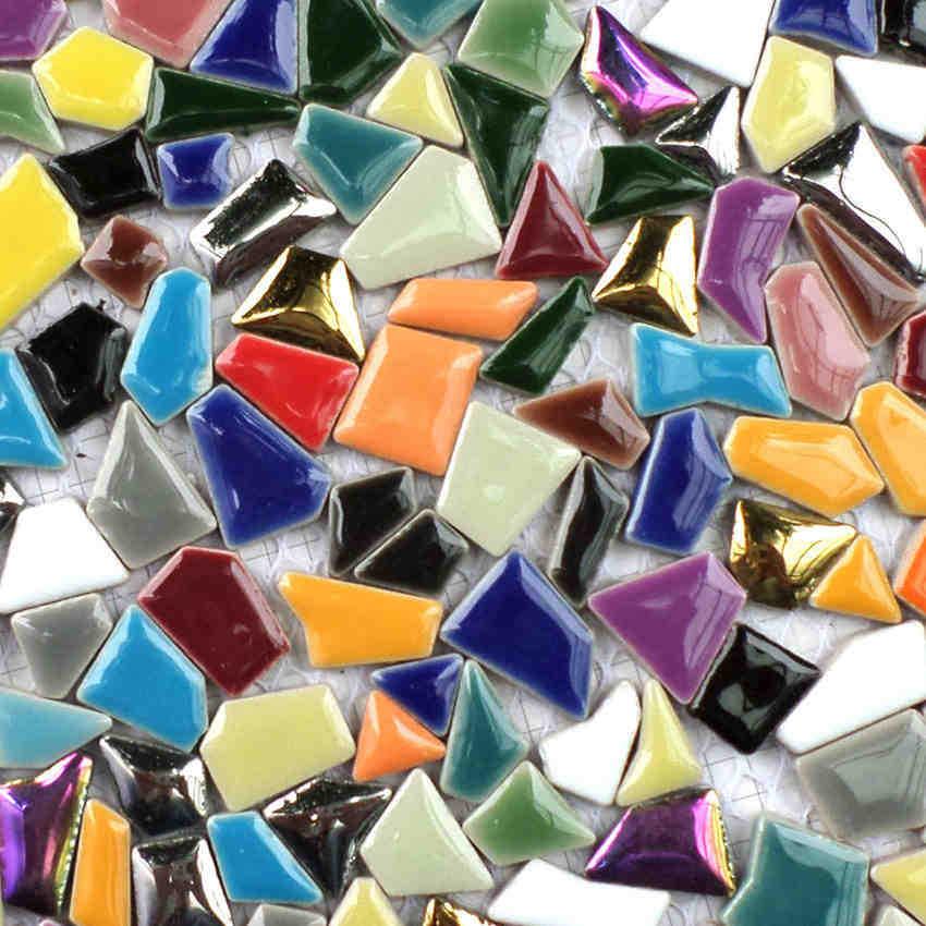 Arco iris colorido mosaico de ceramc de forma irregular de siete - Decoración del hogar - foto 2