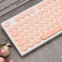 Teclado de computador  teclado de sensação mecânica silenciosa com fio usb para jogos para macbook lenovo asus dell hp com 104 teclas
