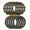 A set Motorcycle Engine Parts Clutch Friction Plates Kit & steel plates For YAMAHA TTR250 TT-R250 TTR 250 1999-2006 4GY
