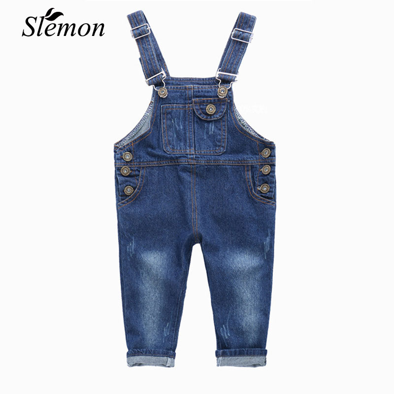 Toddler Girls Boys Jeans Pants 2018 Spring Autumn Trend Children's Denim Trousers New Fashion Kids Overalls Baby Jeans Pants 2017 new designer korea men s jeans slim fit classic denim jeans pants straight trousers leg blue big size 30 34