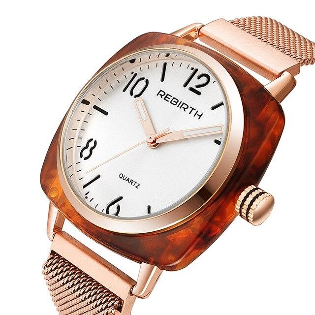 Montre Bracelet de luxe pour femmes montre à Quartz magnétique créative en or Rose Bracelet en acier milanais montres femmes filles aimant horloge 2019