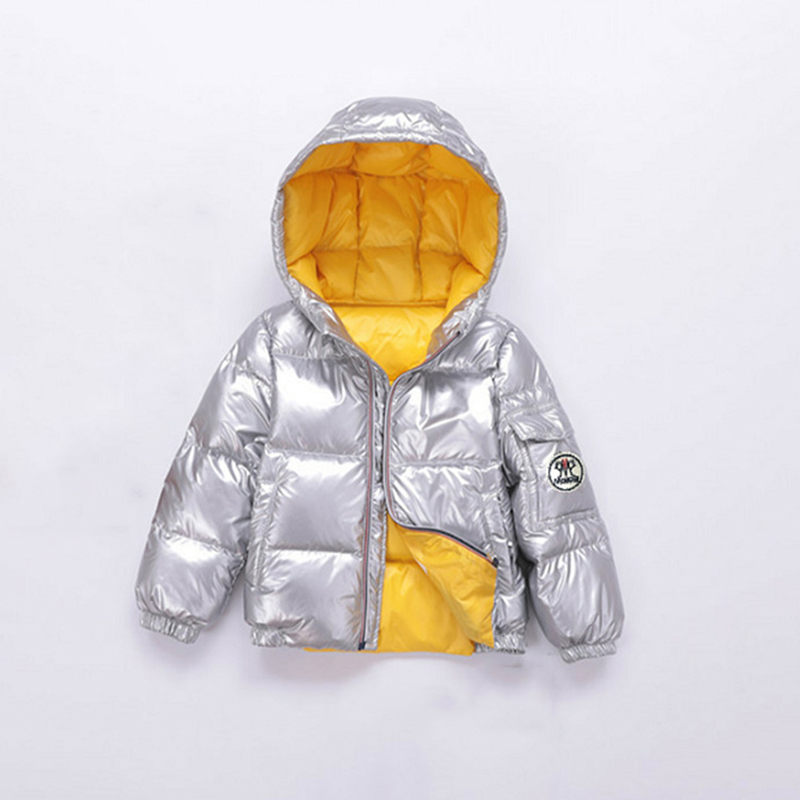 Russia Winter Coat for Kids Snow Wear Thick Warm Down Jacket White Duck Down Padded Super Light Boys Girls Outwear Coats Z314 стоимость