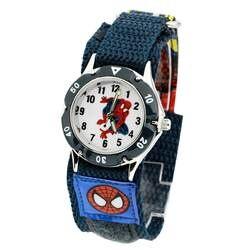 500 шт./лот смешанных оптовые Человек-паук 3D Мультфильм Дети Рождественские подарки часы моды студентов нейлоновый ремешок наручные часы DHL