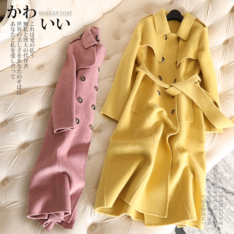 Manteau Étoiles camel Alpaga Beige Mode Femmes 2018 Laine Femelle Nouvelle De Moyen Supérieure Longueur Qualité jaune Marque D'hiver bleu pourpre rnFrRx