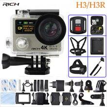 RICH Action Video Camera H3 HD 4K Wifi  1080p 60fps H3R 2.4G Controller Mini Camera Dual Screen Wide Angle Sport Camera