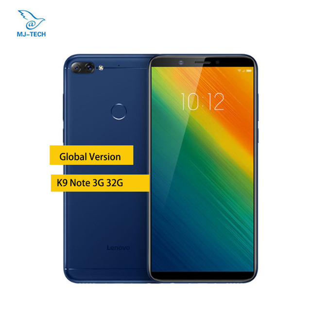 Lenovo K9 Note Global Version 3GB 32GB 3760mAh 6-inch Face ID Mobile Phone Android 8.1 16MP Octa Core Smartphone