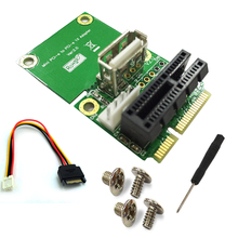 Mini PCI-E to PCI Express PCI-E 1x Board USB 2.0 Half Full Mini PCIE Adapter Card 4Pin Power Supply Computer Components for PC цены онлайн