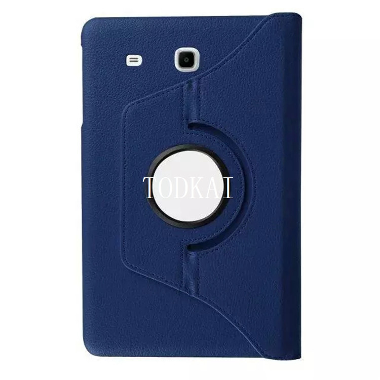 Luxury 360 Degree Rotating Lichee PU leather Flip Stand Case for Samsung Galaxy Tab E 9.6 SM-T560 T565 T567V Coque Funda Cover