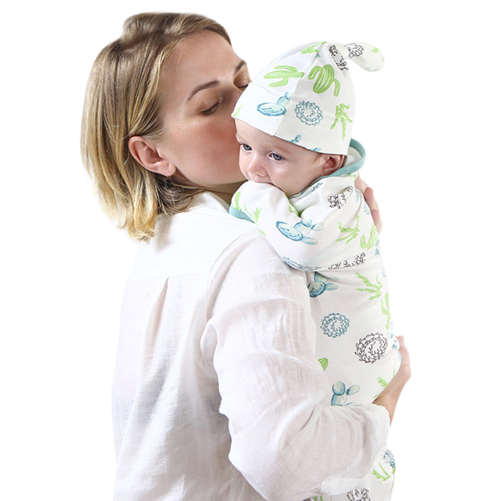 Baby Sleeping Bag Cotton Hug Bag Towel Scarves Newborn Sleeping Bag 2pcsk Attraktive Designs; Bettausstattung Baby