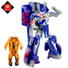 Ukuran besar 46 cm Panjang Deformasi Robot Transformasi 8822AB Kontainer Truk Mainan Aksi Angka Mainan dengan kotak asli