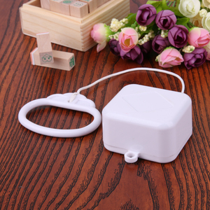 Image 4 - 1 pcs Plastic Pull String Clockwork Cord Music Box Pull Ring Music Box White ABS  Baby Kids Bed Bell Rattle Toy  Birthday Gift
