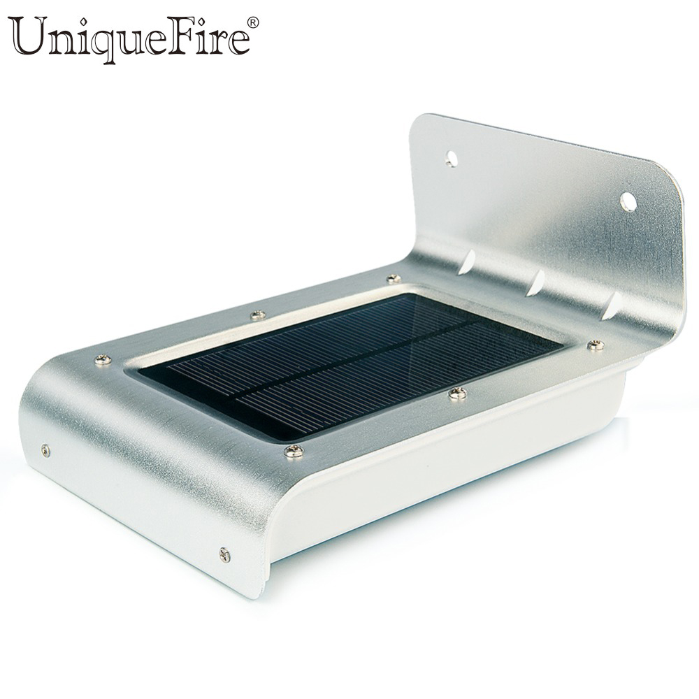 Uniquefire 2nd Generation 16 LED Solar Power PIR Human Body Motion Sensor Home Garden Path Wall