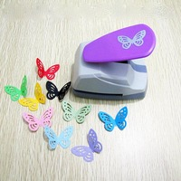 1 pc novo grande criativo bonito borboleta coração formas diy socos decorativos artesanato perfuradores buraco