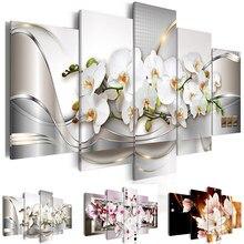 цены на Modern Painting Canvas 5 Panels Orchids Flower Landscape Canvas Print Modular Picture for Wall Art Living Room Home Decor  в интернет-магазинах