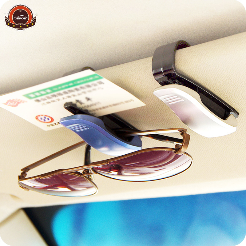 bil styling freeshipping tilbehør briller clip bil sol visor briller solbriller billet kvittering kort klip opbevaring holder