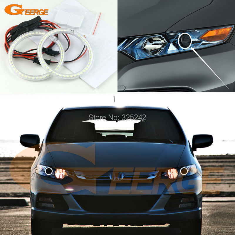 For Honda INSIGHT 2010 2011 2012 2013 2014 2015 Excellent Ultra bright illumination smd led Angel Eyes Halo Ring kit for lifan 620 solano 2008 2009 2010 2012 2013 2014 excellent ultra bright illumination smd led angel eyes halo ring kit