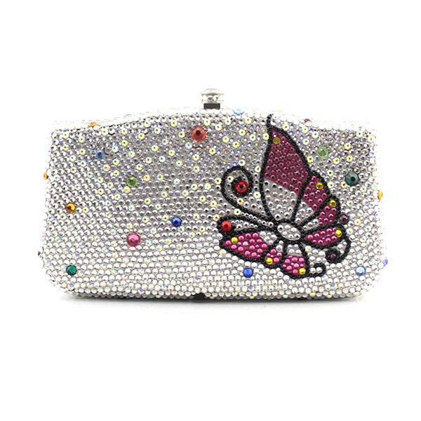 Crystal Lady fashion Bridal Night Metal Evening purse butterfly pattern clutch bag case box handbag (1027-WB) 150mm tr8 8 acme leadscrew threaded nema17 stepper