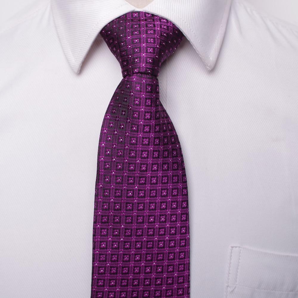 klassisk män affärsformell bröllop slips 8cm rand halsband mode - Kläder tillbehör - Foto 5