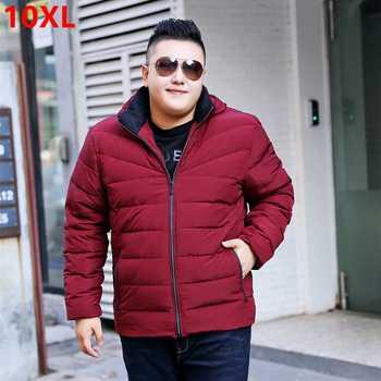 Big size Winter 7XL jacket red loose detachable cap Jacket Mens jacket thick coat tide Big size down jacket 7XL 8XL 9XL 10XL - DISCOUNT ITEM  49 OFF Men\'s Clothing