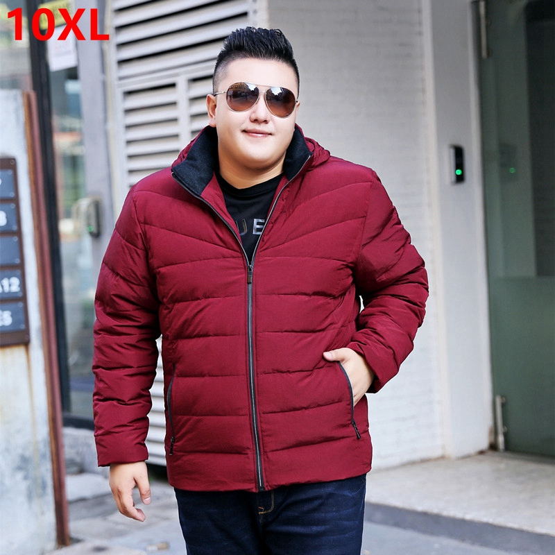 Big size Winter 7XL jacket red loose detachable cap Jacket Mens jacket thick coat tide Big size down jacket 7XL 8XL 9XL 10XL ...