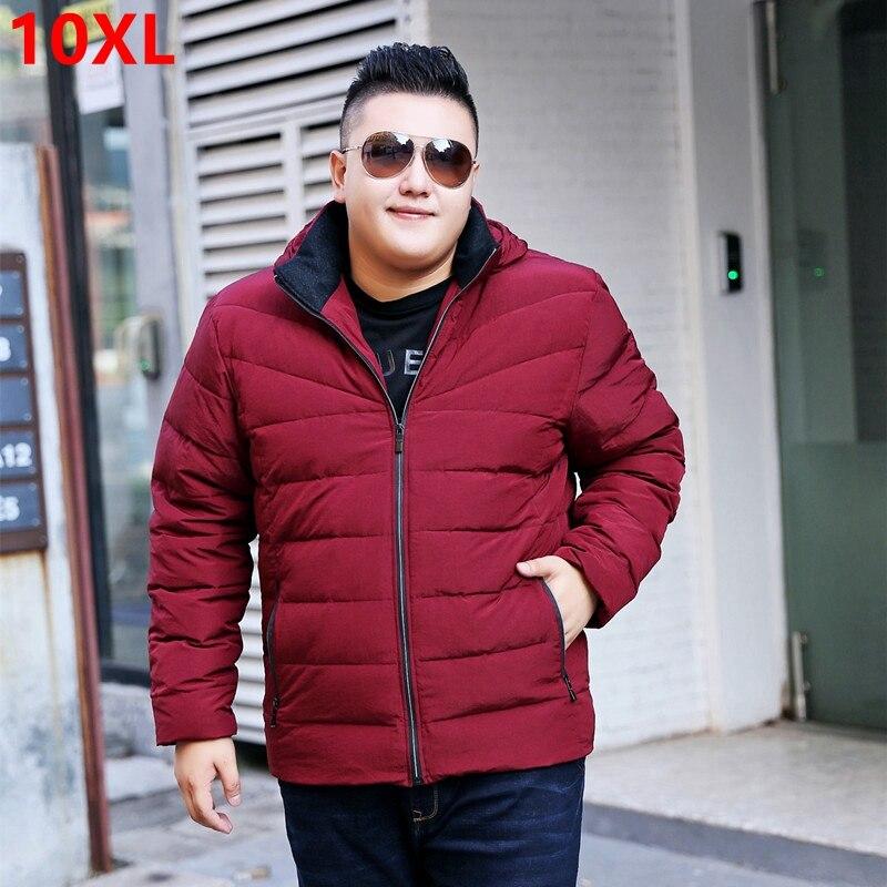 Grande taille hiver 7XL veste rouge lâche amovible casquette veste hommes manteau épais marée grande taille doudoune 7XL 8XL 9XL 10XL