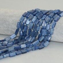 Натуральный Кианит нерегулярные плоские трубки бусины 8 мм~ 10 мм-материал без обработки цвета