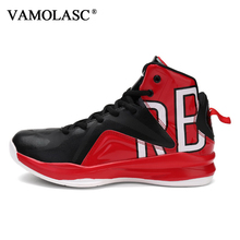 VAMOLASC New Men's Leather stitching Comfortable Basketball Shoes Cushioning Breathable Sneakers Athletic Sports Shoes