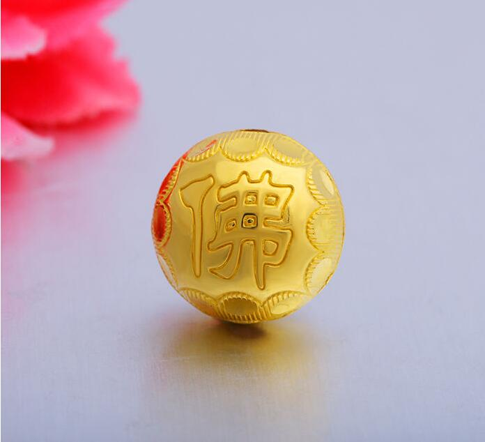 1pcs Authentic 24K Yellow Gold Pendant / 3D Bless Buddha Beads Pendant