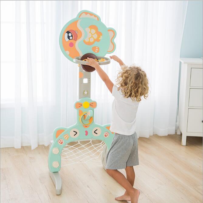 Crianças ajustável júnior juventude basquete net sistema de esportes hoop backboard sobre rodas esporte ao ar livre brinquedos para crianças presente