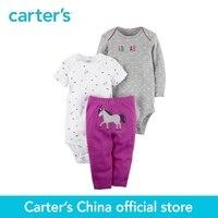 Carter S 3 Piece Baby Children Kids Clothing Girl Spring Summer Cotton Little Character Set 126G963