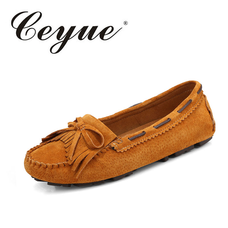 Ceyue Fashion Female Nice New Flat Shoes Bow Casual Single Shoes Women Lazy footwear Large Size Peas Shoes Sapatilhas Feminina the dancing class