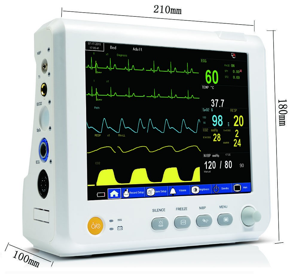 M8 ICU Modular Patient Monitor parameter NIBP,Spo2, PR,ECG,RESP,TEMP Patient Monitor gpyoja 2016 hot selling multi parameter ecg nibp spo2 pr temp resp tablet patient monitor